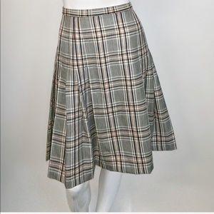 Pendleton vintage pleated school girl plaid